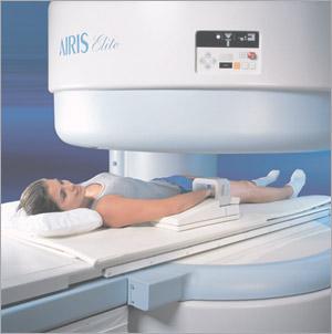 Afbeedling open MRI scanner
